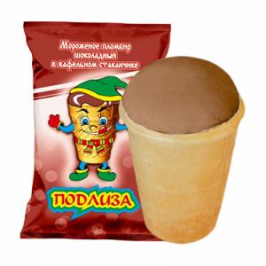 Мороженое Подлиза шоколадное
