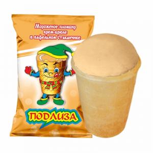 Мороженое Подлиза крем-брюле